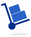 Moving Boxes on a handcart icon