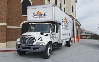 Sunrise Truck on commercial move